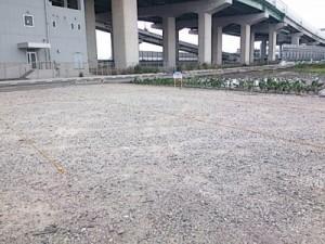 駐車場のトラロープ工事